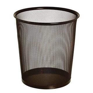 Bronze Mesh Round Wastebasket - 5 gal.