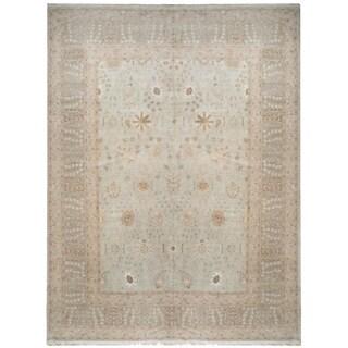 Handknotted Designer Wool Tabriz Rug (12' x 15'6'') - 12' x 15'6''
