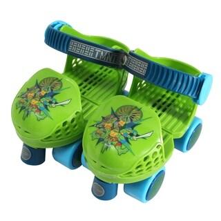 Playwheels TMNT Kids Rollerskate Junior Size 6-12 with Knee Pads