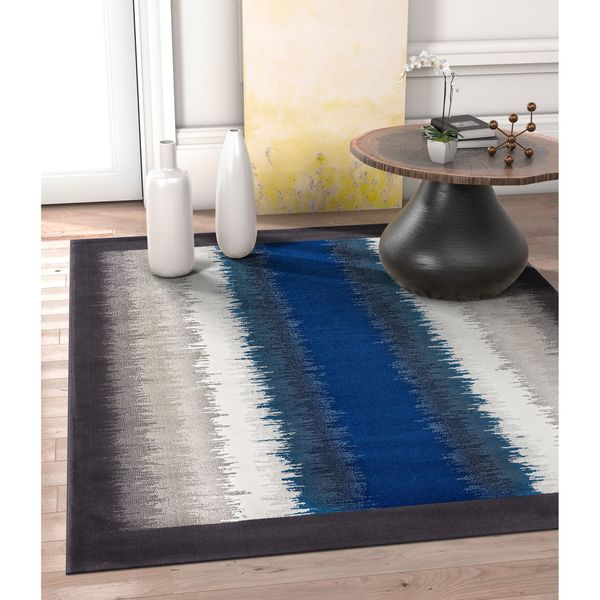 """Well Woven Allegro Blue Ombre Area Rug - 7'10"""" x 10'6""""/7'10 x 10'6"""