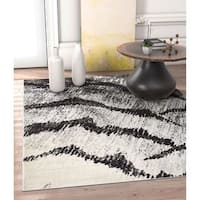 Well Woven Allegro Grey Abstract Area Rug - 7'10 x 10'6