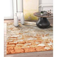 Well Woven Allegro Copper Area Rug - 7'10 x 10'6