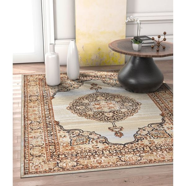 Well Woven Allegro Traditional Vintage Red Area Rug - 7'10 x 10'6
