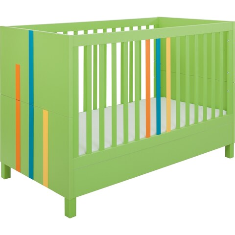 Little Guy Comfort Hometown Children's Convertible 3 in 1 Crib and Youth Bed - Lime Green