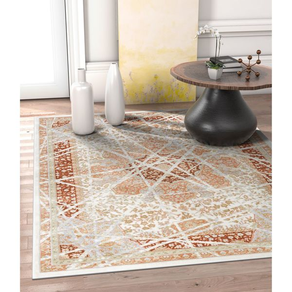 Well Woven Allegro Traditional Vintage Copper Area Rug - 7'10 x 10'6