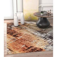 "Well Woven Allegro Modern Distressed Copper Area Rug - 5'3"" x 7'3"""