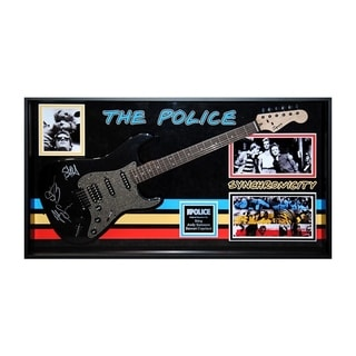 The Police Signed Guitar Synchronicity Custom Framed