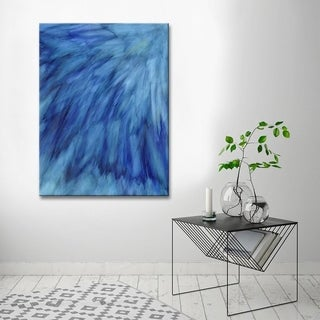 Ready2HangArt 'Blue Feathers' Canvas Wall Decor by Max+E