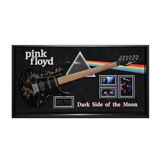 Pink Floyd Signed Guitar Dark Side Of The Moon Custom Framed