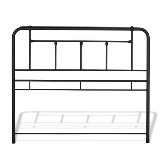 Carbon Loft Kuiper Textured Black Metal Headboard