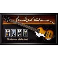 Paul McCartney Signed Guitar Custom Framed