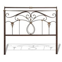 Fashion Bed Group Lucinda Metal Headboard in Marbled Russet