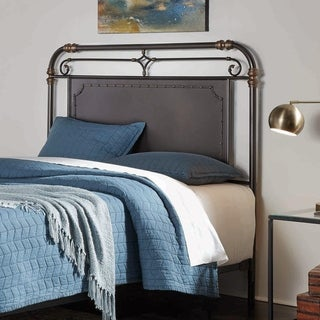 Westchester Metal Headboard with Vintage Design and Nailhead Detail