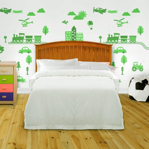 Fashion Bed Group Kids Full/Queen Size Finley Wood Headboard in Maple