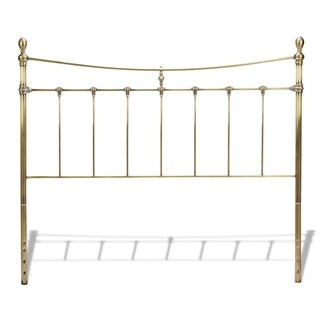 Fashion Bed Group Leighton Metal Headboard in Glazed Brass