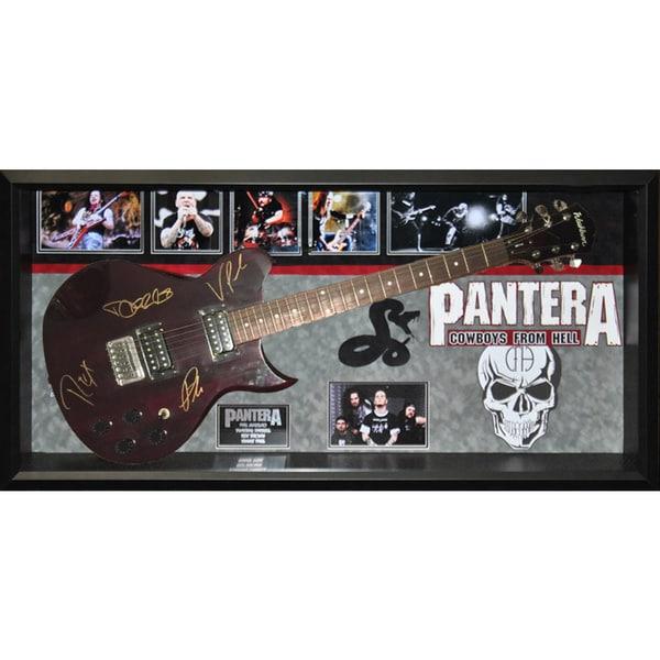 Pantera Signed Guitar Cowboys from Hell Custom Framed