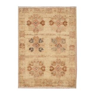 Handmade Herat Oriental Afghan Hand-knotted Vegetable Dye Wool Rug (1'4 x 2')