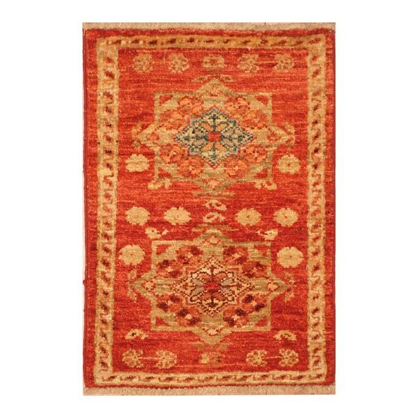 Handmade Herat Oriental Afghan Hand Knotted Vegetable Dye Wool Rug (1u00274 X