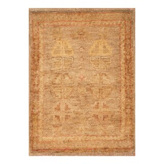 Handmade Herat Oriental Afghan Hand-knotted Vegetable Dye Wool Rug (1'5 x 2')