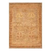 Handmade Herat Oriental Afghan Hand-knotted Vegetable Dye Wool Rug (Afghanistan) - XS