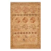 Handmade Herat Oriental Afghan Hand-knotted Vegetable Dye Wool Rug (1'5 x 2'1)