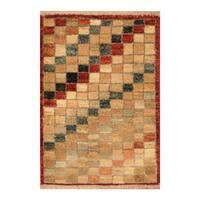 Handmade Herat Oriental Afghan Hand-knotted Vegetable Dye Wool Rug (Afghanistan) - XS/1'4 x 2'