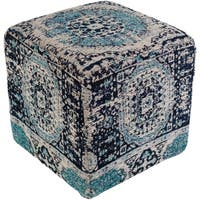 Fremont Traditional Oriental Navy 18-inch Pouf