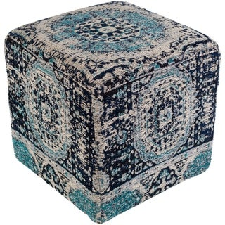 "Fremont Traditional Oriental Navy 18"" Pouf"