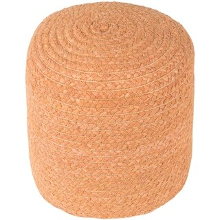 "Cahaba Traditional Textured Peach 16"" Pouf"