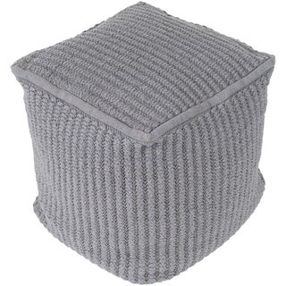 "Holdredge Modern Textured Gray 16"" Pouf"
