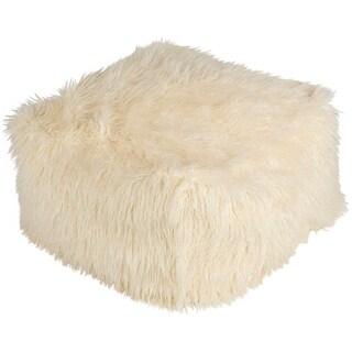 """Rumbold Modern Animal White 24"""" Pouf"""