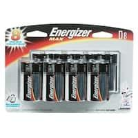 Energizer  Max  D  Alkaline  Batteries  1.5 volts 8 pk