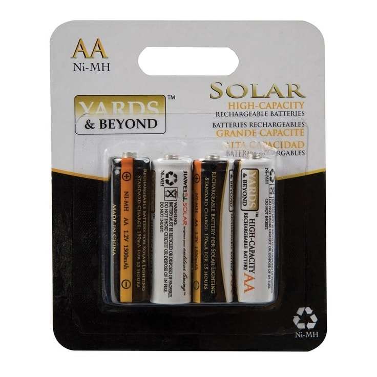 Four Seasons Living Accents Yards & Beyonds NiMH AA Solar...