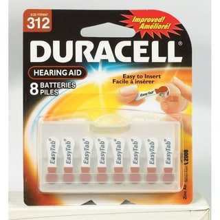 Duracell  Hearing Aid Battery  312  1.4 volts 8 pk