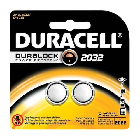 Duracell Watch/Electronic Battery 2032 3 volts 2 pk