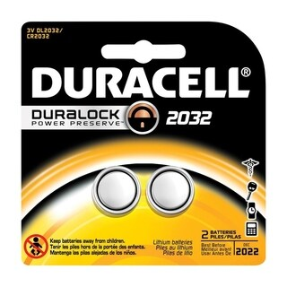 Duracell Watch/Electronic Battery 2032 3 volts 2 pk
