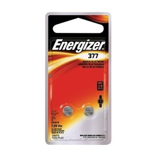 Energizer Watch/Electronic Battery 377 1.5 volts 2 pk