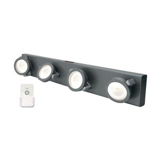 Rite Lite Battery 4 LED Under Cabinet Light Strip Gray 70 lumens