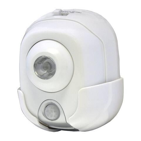 Rite Lite White Metal Security Light Motion-Sensing LED 120 volts