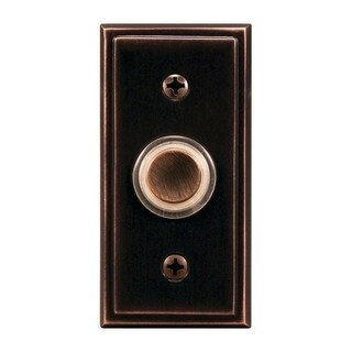 Heath Zenith Oil Rubbed Bronze Wired Pushbutton Doorbell