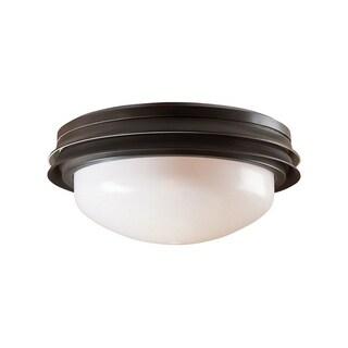 Hunter Fan Marine II 11.18 in. W New Bronze Globes Outdoor Ceiling Fan Light Kit