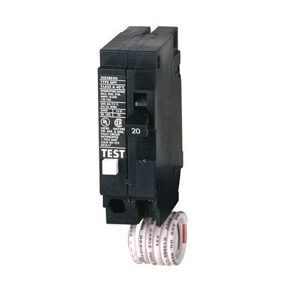Siemens HomeLine Single Pole 20 amps Circuit Breaker, Black