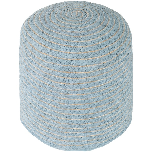 """Cahaba Traditional Textured Gray 16"""" Pouf"""