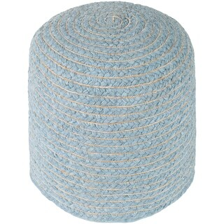 "Cahaba Traditional Textured Gray 16"" Pouf"