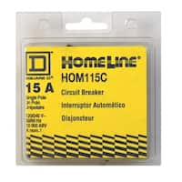 Square D  HomeLine  Single Pole  15 amps Circuit Breaker