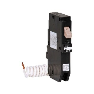 Eaton GFCI Self Test Circuit Breaker 20 Plug-In 120/242 6.09 in. L