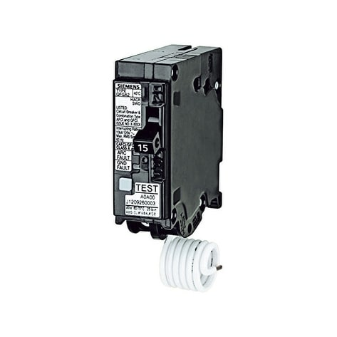 Siemens Dual Function Breaker 15 amps Circuit Breaker, Black