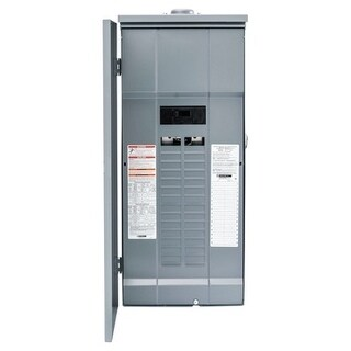 Square D Homeline 200 amps 30 space 60 circuits 120/240 volts Plug-In Single Pole Main Breaker Load Center