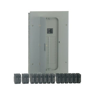 GE PowerMark Gold 100 amps 20 space 20 circuits 240 volts Plug-In Double Pole Main Breaker Load Center