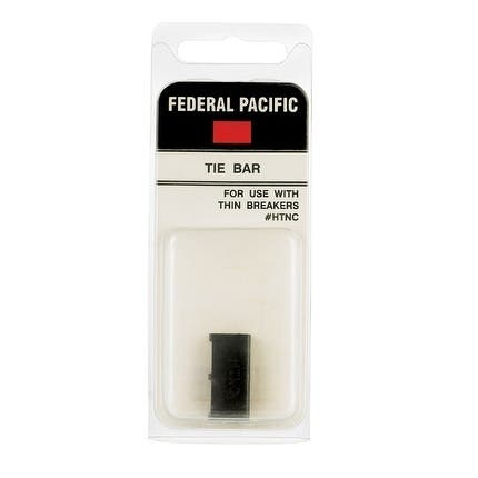 Connecticut Electric Federal Pacific 1 space 2 circuits Surface Single Pole Tie Bar